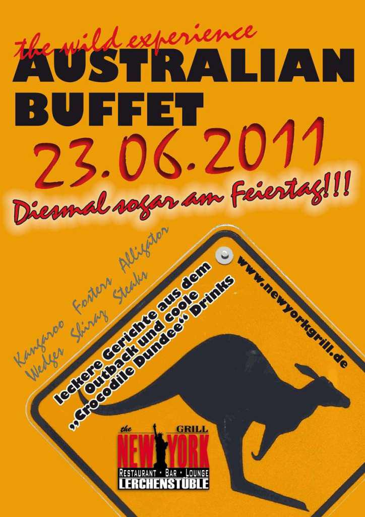 Plakat für ein Restaurant