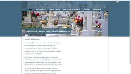 Homepage für ein Bestattungsunternehmen