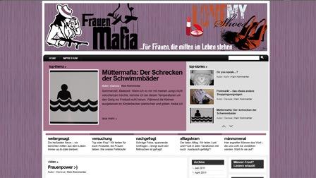 Homepage für einen Blog
