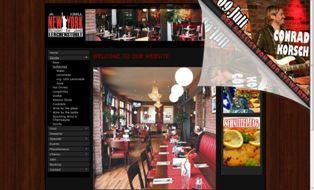 Homepage  für ein Restaurant