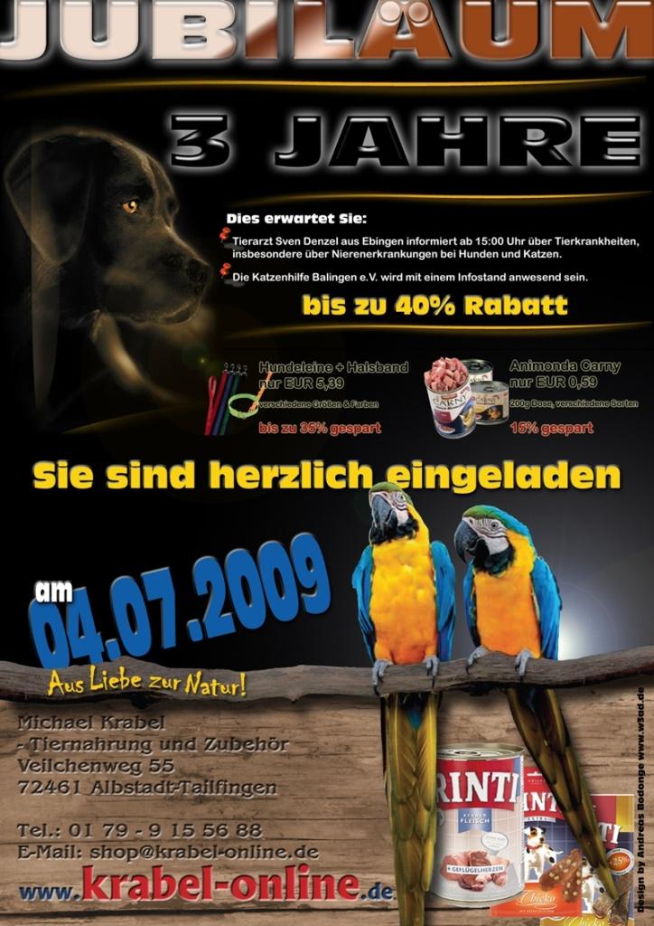 Plakat für einen Onlineshop